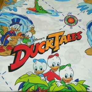 VTG 80s Disney Duck Tales Twin Flat Sheet